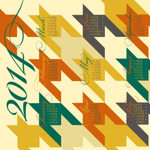 2014 for the love of houndstooth Tea Towel