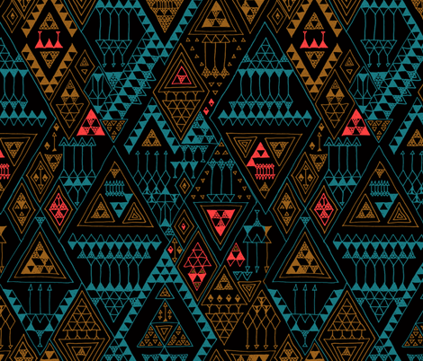 doodles black multi fabric by randomarticle on Spoonflower - custom fabric