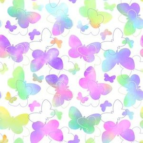 Watercolor Butterflies Small