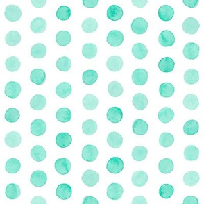 Watercolor Dots: Mint