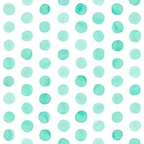 Watercolor Dots: Mint