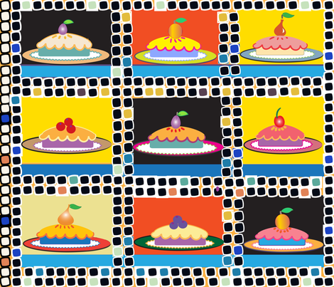 SOOBLOO_PIES_NEW-01 fabric by soobloo on Spoonflower - custom fabric