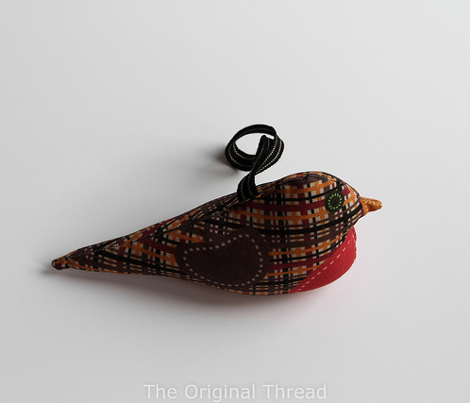 Christmas Robin Cut and Sew Ornament