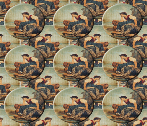 Lost in Thought Medallions fabric by anniedeb on Spoonflower - custom fabric