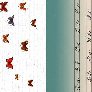 1/2 Apron Butterflies Writing