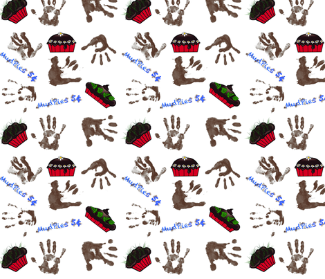 Mudpies fabric by shirlene on Spoonflower - custom fabric