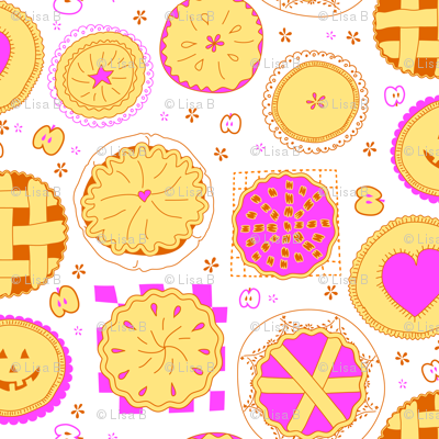 dots made of pies and little apples !