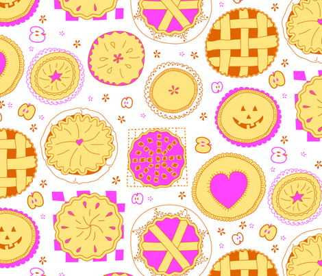 dots made of pies and little apples !  fabric by lisahilda on Spoonflower - custom fabric