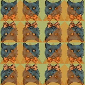 Fancy Cats with Bow Ties
