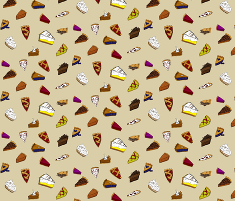 Slice of Pies fabric by sc_squared on Spoonflower - custom fabric