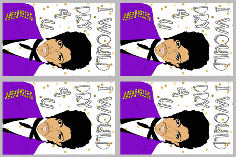 Prince Tea Towel fabric by lizengel on Spoonflower - custom fabric