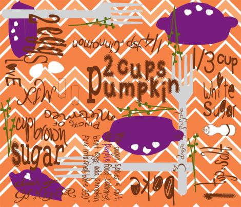 Perfect Pumpkin Pie...-ch fabric by cinthr on Spoonflower - custom fabric