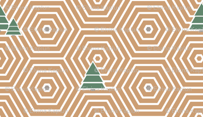 Hexagons and trees