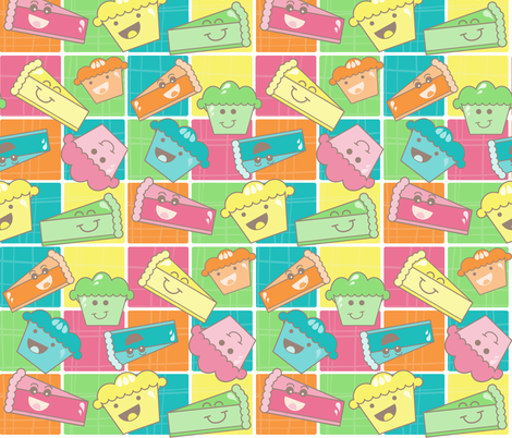 Eat some Pie!! fabric by jlwillustration on Spoonflower - custom fabric