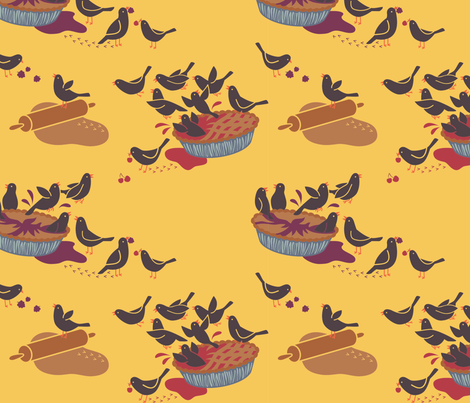 Blackbird Pie fabric by k80horn on Spoonflower - custom fabric