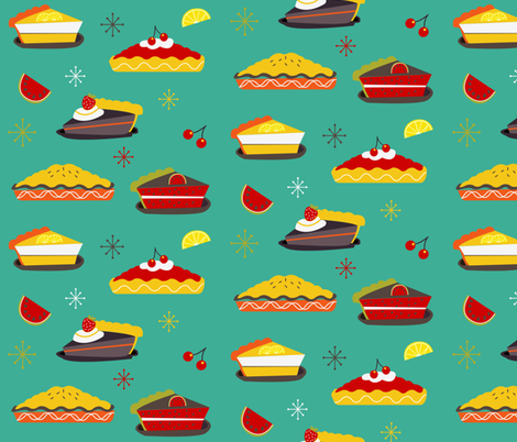 Retro pies for you fabric by misslife on Spoonflower - custom fabric