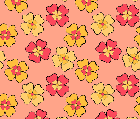 Large Posies fabric by brendazapotosky on Spoonflower - custom fabric