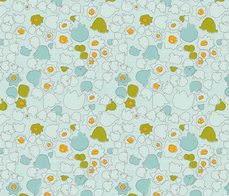 valley lilies dew fabric by makemightswave on Spoonflower - custom fabric