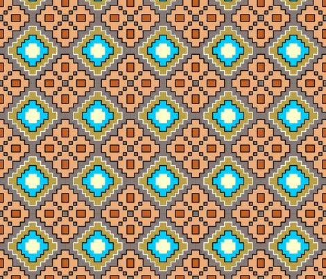 desert geometric fountain square fabric by beesocks on Spoonflower - custom fabric