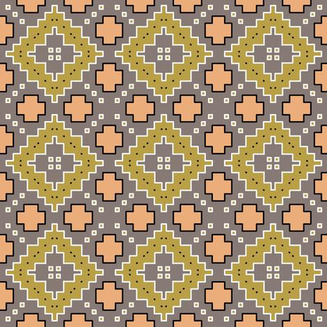 Olive Diamonds desert geometric fabric by beesocks on Spoonflower - custom fabric