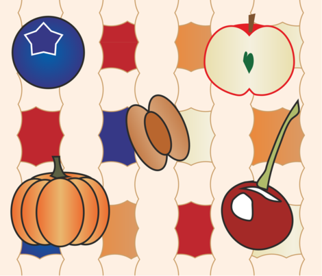 pie_pattern fabric by wendybutcher on Spoonflower - custom fabric