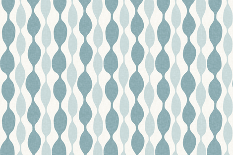Sea and Spa Beaded Linen Stripe fabric by willowlanetextiles on Spoonflower - custom fabric