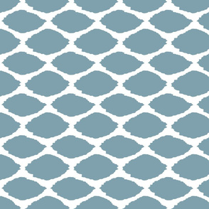 Oval Ikat in Sea