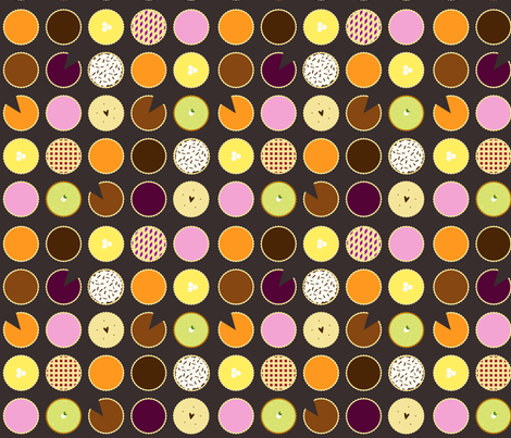 Pie Chart fabric by jenimp on Spoonflower - custom fabric