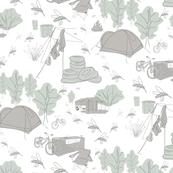 Camping Toile (monotone)