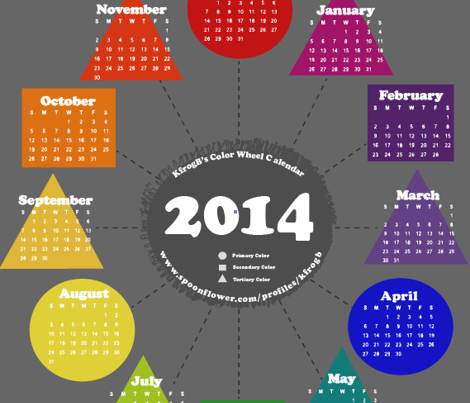 2014 Color Wheel Calendar