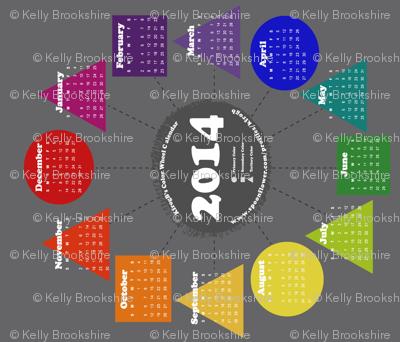 2014 Color Wheel Calendar