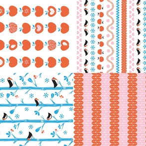 Four wintery teatowels!
