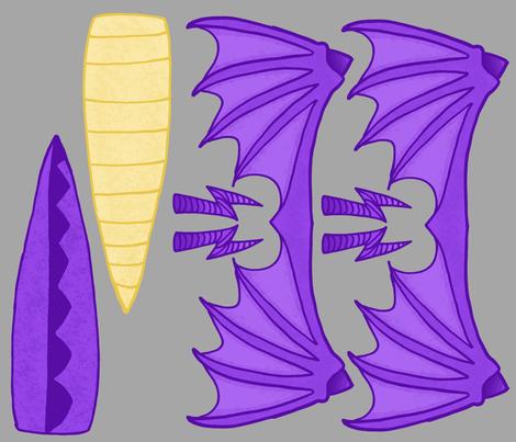 dragoncostume fabric by twistedblossom on Spoonflower - custom fabric