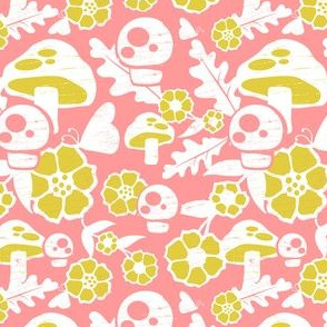 Woodland Floral coral