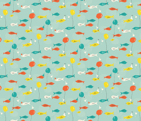 Fish Party fabric by emilyannstudio on Spoonflower - custom fabric