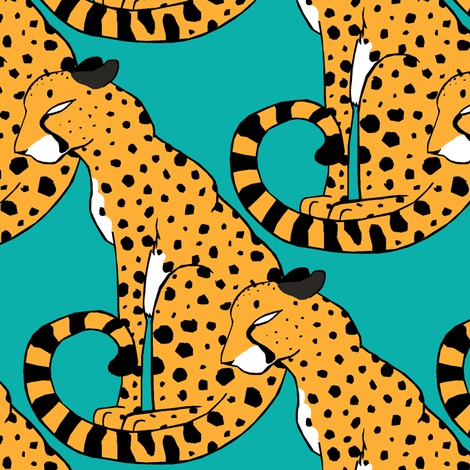 Cheetah Clan fabric by pond_ripple on Spoonflower - custom fabric