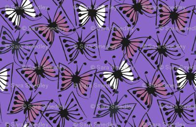 Flutterby - plum on violet