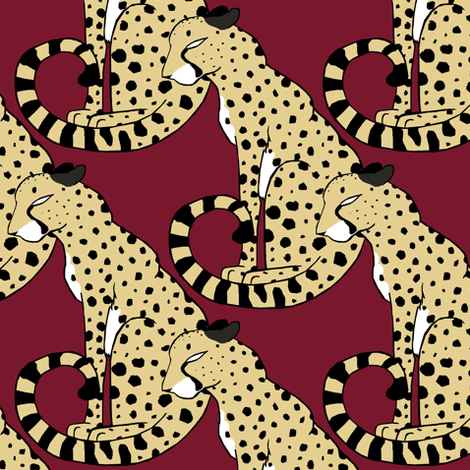 Coalition of Cheetahs fabric by pond_ripple on Spoonflower - custom fabric