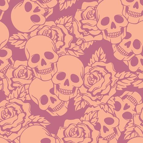 Shortcake Skulls Large fabric by sugarxvice on Spoonflower - custom fabric