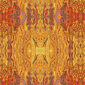 Gold Yellow Gypsy Abstract Boho