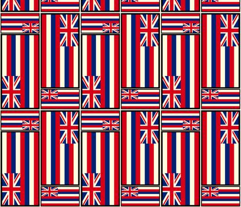 Hawaiian Flag fabric by lehuar on Spoonflower - custom fabric
