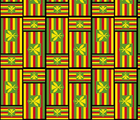 Kanaka Maoli Flag fabric by lehuar on Spoonflower - custom fabric