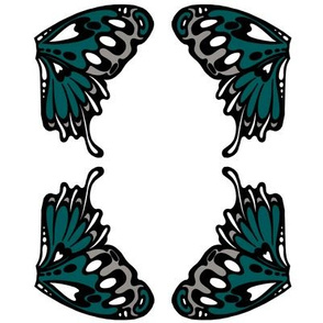 small teal wings
