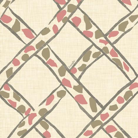 Basket Giraffe - cherry - fabric by frumafar on Spoonflower - custom fabric