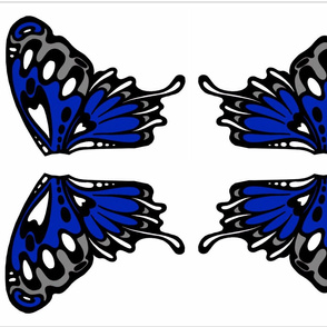 Deep Blue Wing Applique