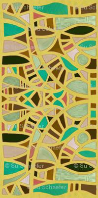 Gaudian masks in mustard + chrysoprase by Su_G