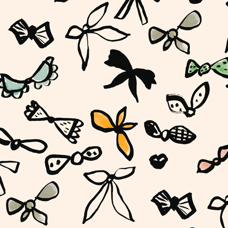 Sumi Ribbons fabric by frumafar on Spoonflower - custom fabric
