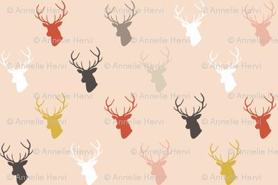 Holiday Pink Deer half scale