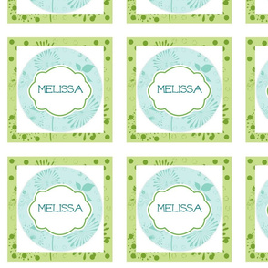 Island Quilt Pinwheels Hallmark Kiwi Sea Glass-Personalized