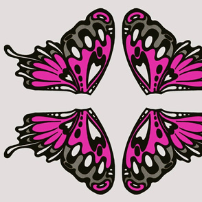 Pink Wings Appliques